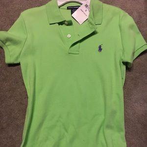 NWT Polo Lime Green